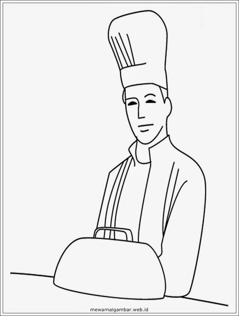 gambar sketsa master chef
