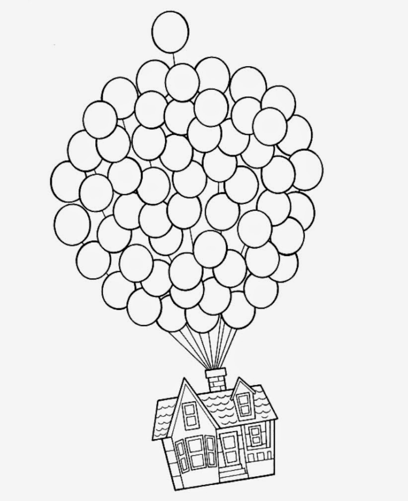 Up House Balloons Up House Balloons Drawing