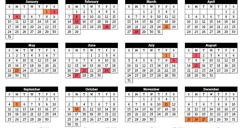 Weekly 2016 Calendar | Calendar Template 2016