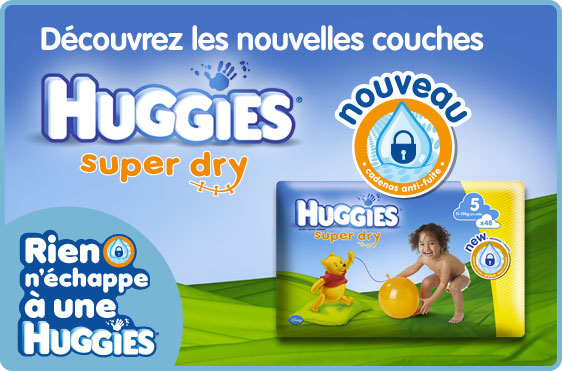 La marque Huggies offre 10 euros de réduction sur votre prochain achat de couches Huggies bon plan couches promos Huggies