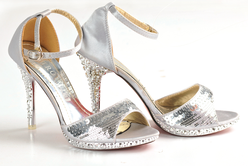 Metro shoes silver sandal wedding