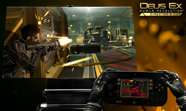 Map displayed on Wii U GamePad while playing Deus Ex: Human Revolution - Director's Cut