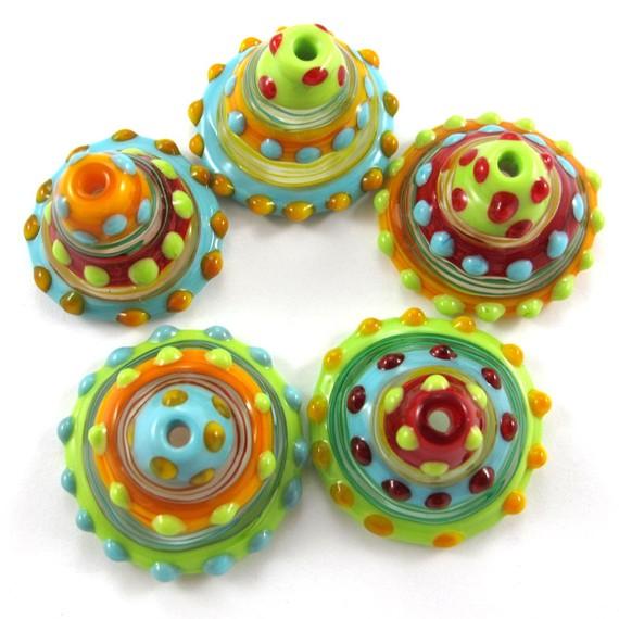 sari rainbow lampwork bead jewelry