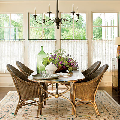 Color changes everything southern living idea house 2013 for Southern dining room