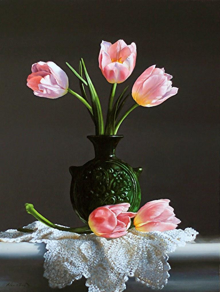 Cuadros modernos pinturas y dibujos jarrones de cristal - Decoracion de jarrones con flores artificiales ...