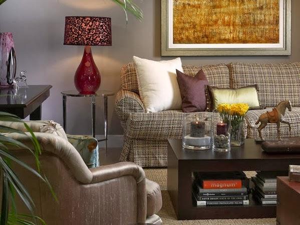 Salon à des couleurs confortables