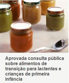 Consulta pública sobre alimentos de transição para lactentes e crianças de primeira infância