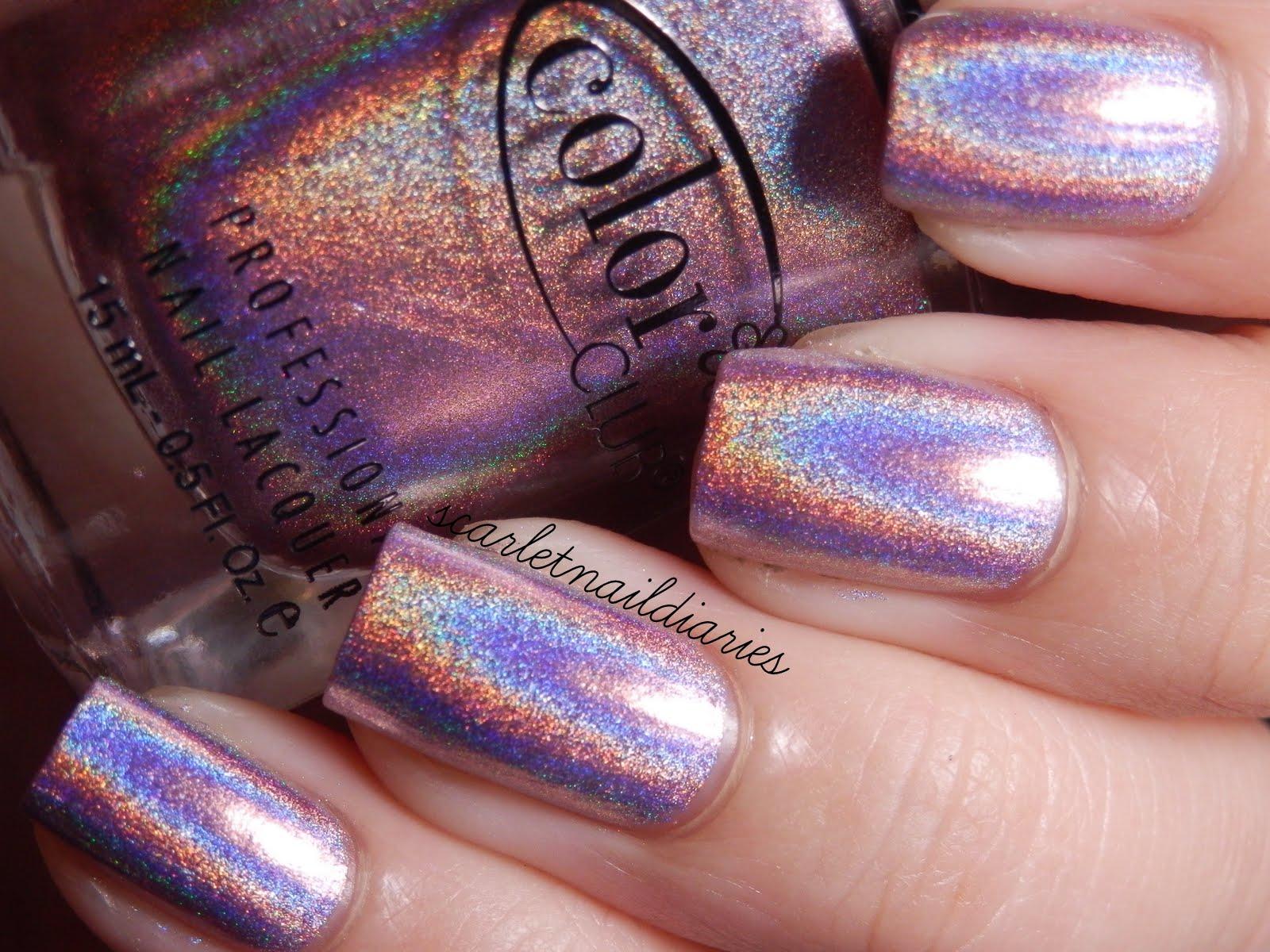 Color Club Cloud Nine Halo Hues Light Pink Holographic Holo Nail Polish 977 On The Hunt