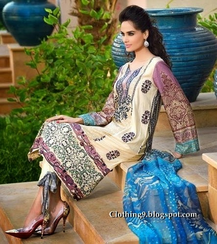 HSY Lawn by ITTEHAD TEXTILES