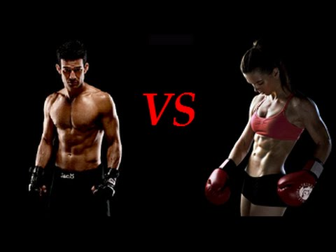 mixed boxing man vs woman