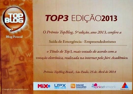 3º lugar Empreendedorismo TOP BLOG