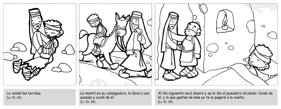 Dibujos para catequesis: PARÁBOLA DEL BUEN SAMARITANO 3