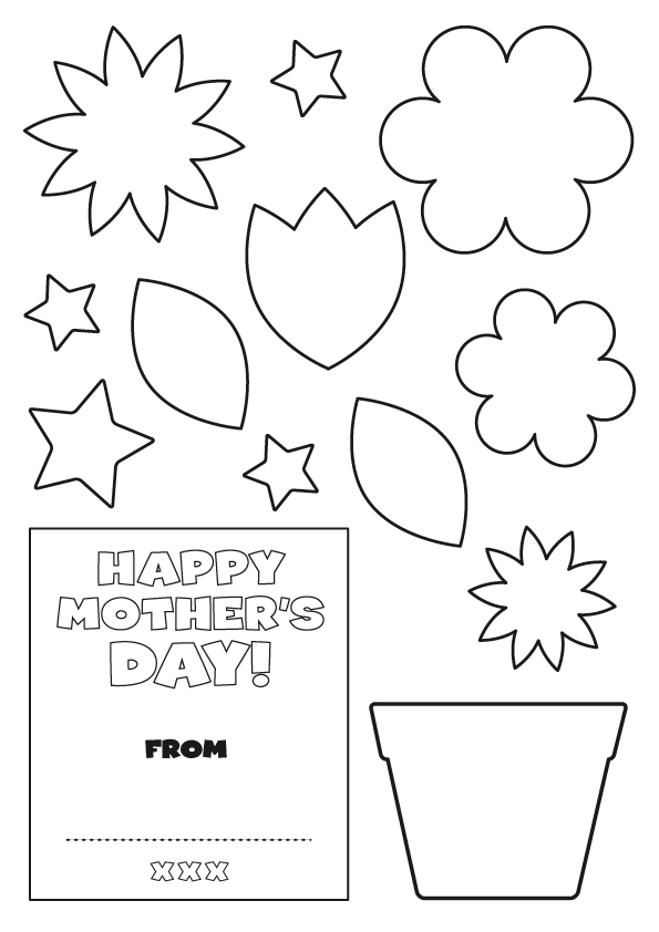 early play templates: Mother's Day Card Templates