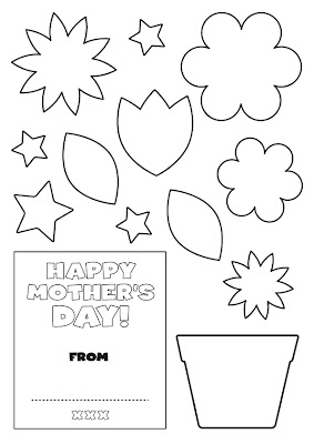 Mother Day Card Templates for Kids