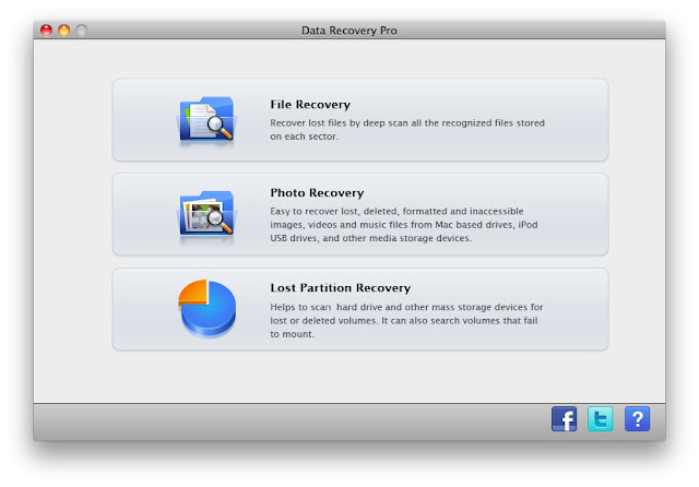 leawo data recovery mac main