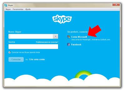 IMAGEM / REPRODUÇÃO - Tela do Skype