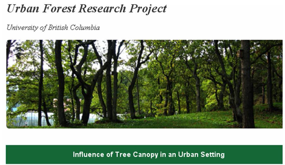 Rainfall Interception in an Urban Environment Results of UBC Tree Canopy Research published  sc 1 st  Partnership for Water Sustainability in BC & Partnership for Water Sustainability in BC: Rainfall Interception ...
