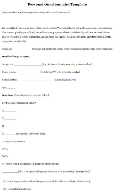 Background Questionnaire Template4