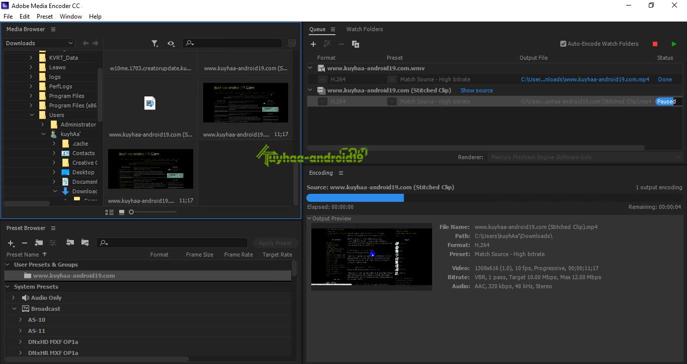 Adobe Media Encoder CC kuyhaa