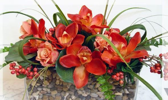 Centros de Mesa, Flores de Imitación.