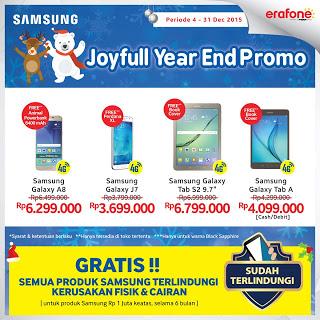 Joyful Year End Promo Untuk Smartphone 4G dan Tablet 4G Samsung Galaxy di Erafone