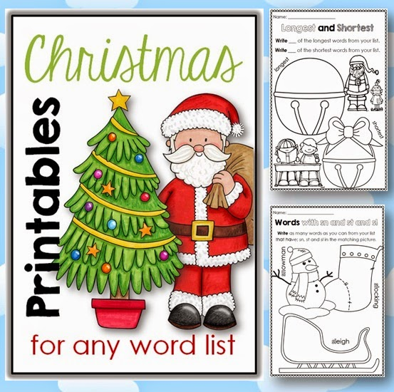 Ready to go differentiated Christmas printables that will work for any list and that can be used in a number of ways.