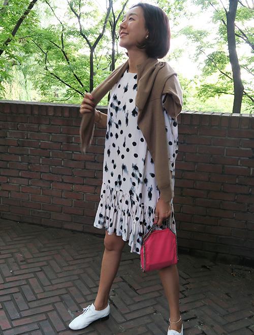 Smeared Polka Dot Dress
