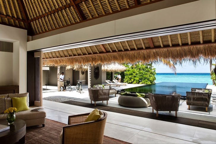 Terrace of Modern villa in Maldives by Jean-Michel Gathy