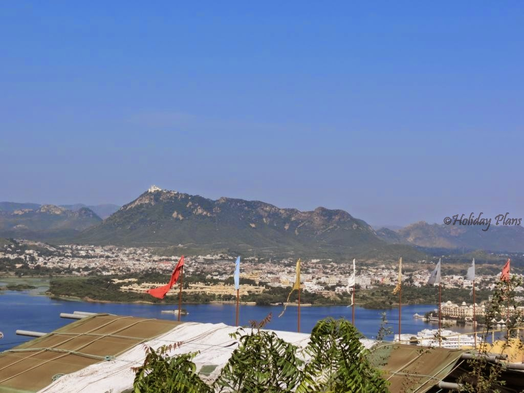 View of Udaipur from hill top