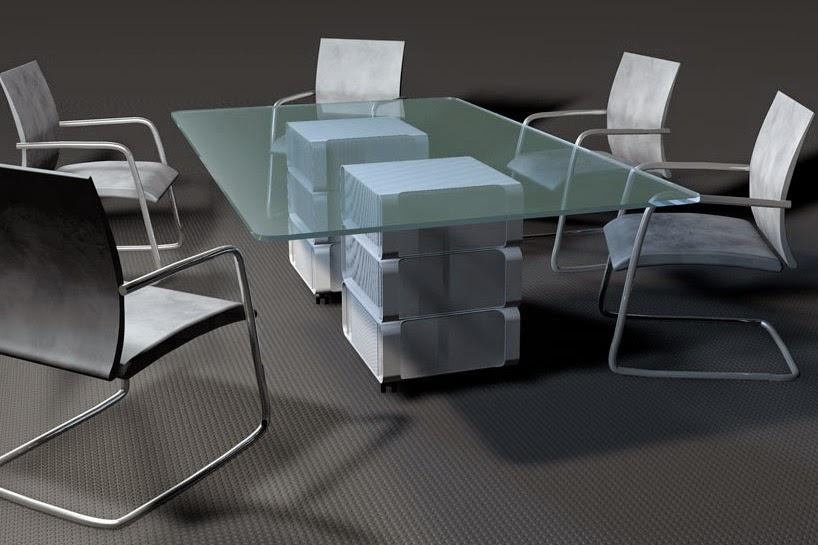 Muebles de Diseño con Cajas de Aluminio Recicladas,CPUs MAC Reciclados