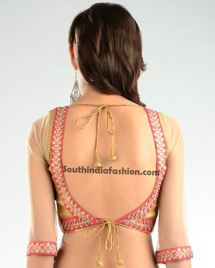 Day, Backless saree blouses designs for women