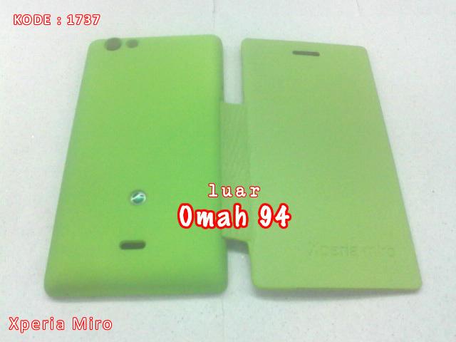 Jual Flip Cover Case Sony Xperia Miro ST23i Hijau (Green)