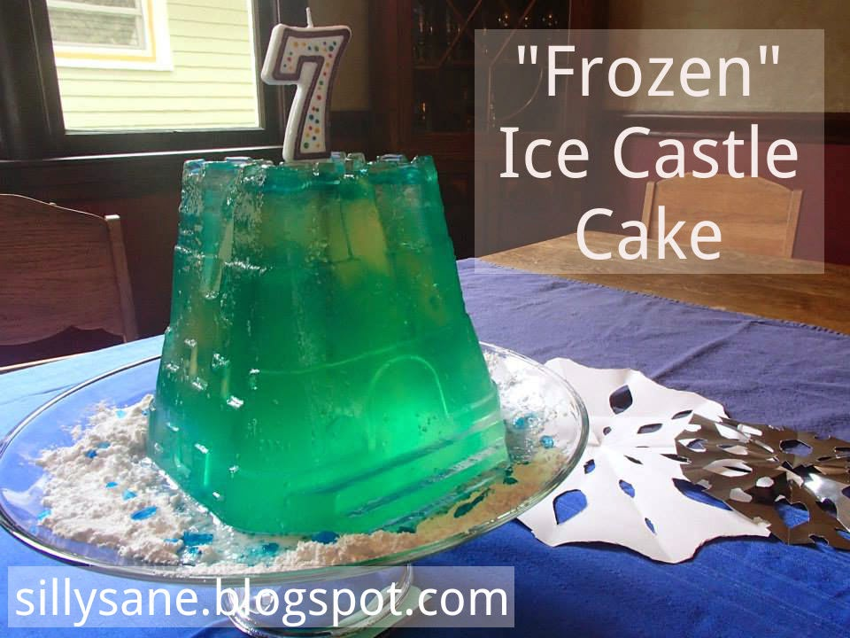 "Frozen birthday party gelatin ""ice"" castle cake"