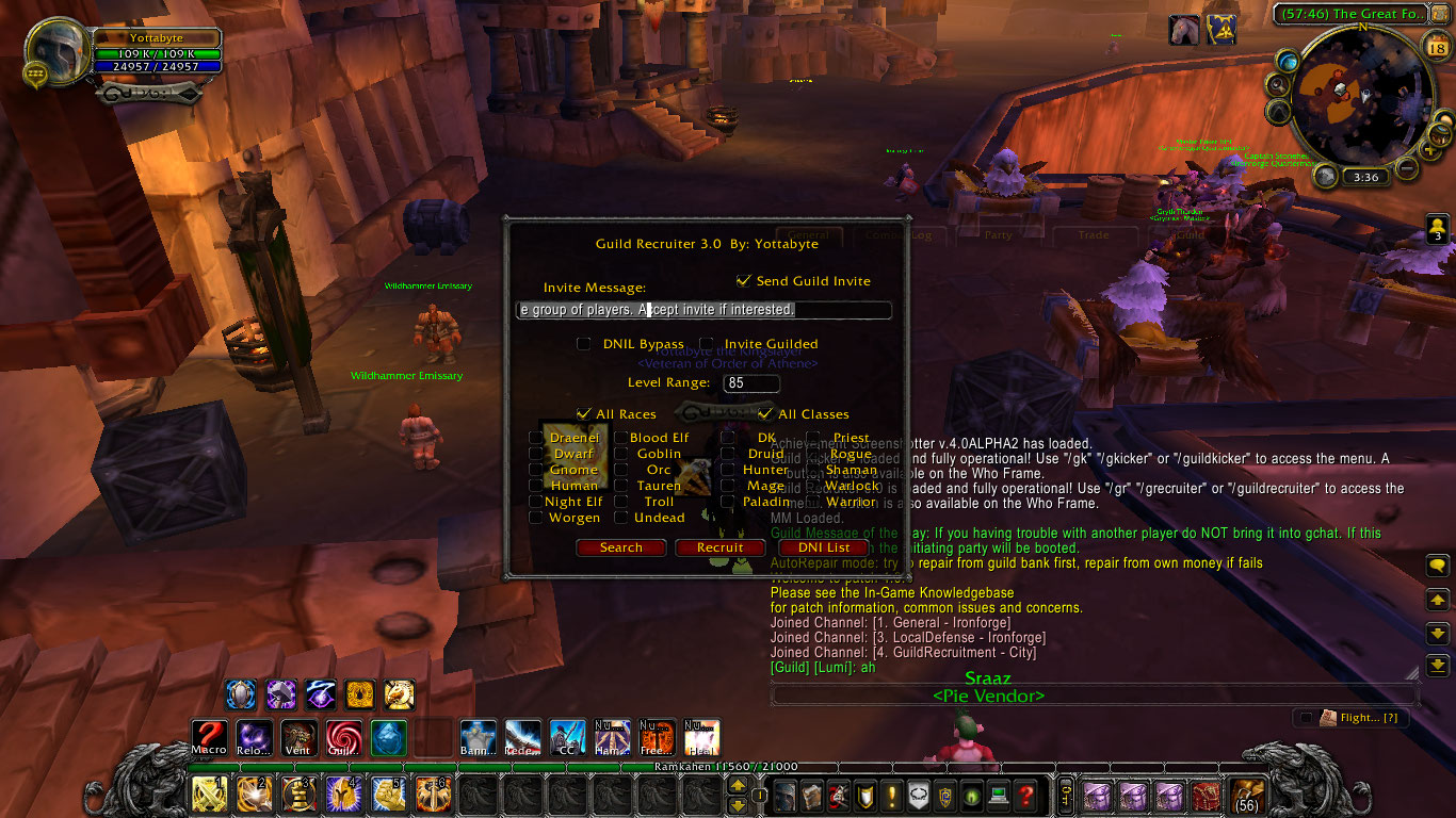 wow+Guild+Recruiter master of world of warcraft mass guild invites with anti spam,Wow Macro Guild Invite