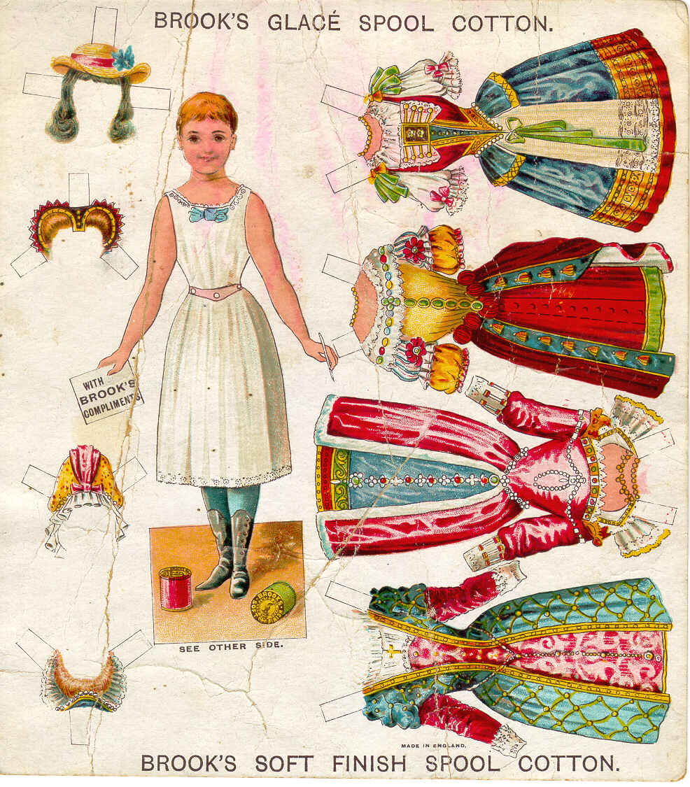 This is an image of Inventive Downloadable Paper Dolls