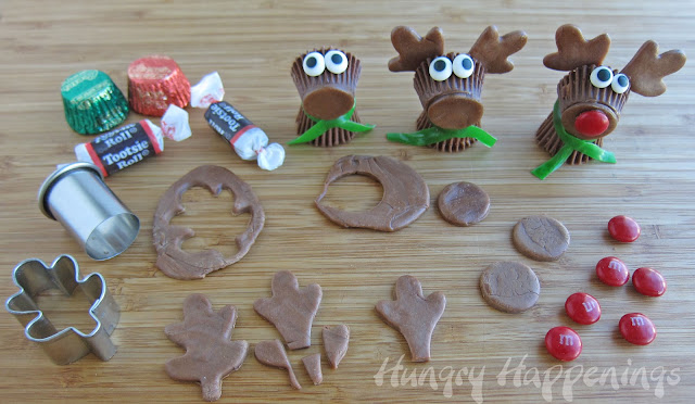 More supplies required to make Rudolf the Peanut Butter Cup Reindeer