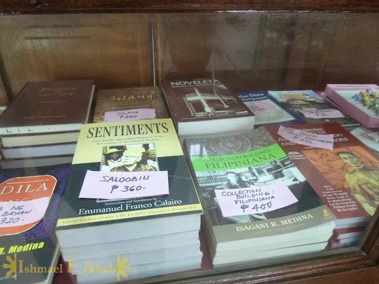 History books for sale at Aguinaldo Shrine