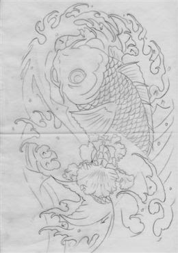 Japanese Tattoo Sketch