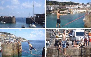 Σχοινοβασία πάνω από τη θάλασσα (Βίντεο)