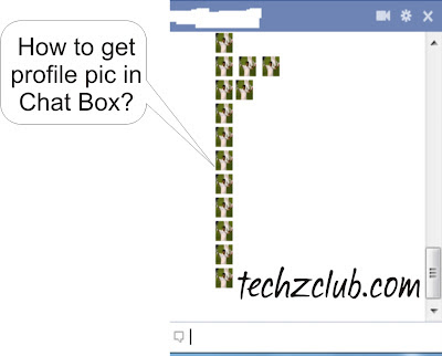 How to Get your Profile Pic in Facebook Chat Box?