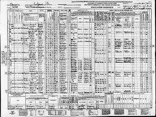 1940 Census page for Esther Hill Morgan, last War of 1812 Pension recipient