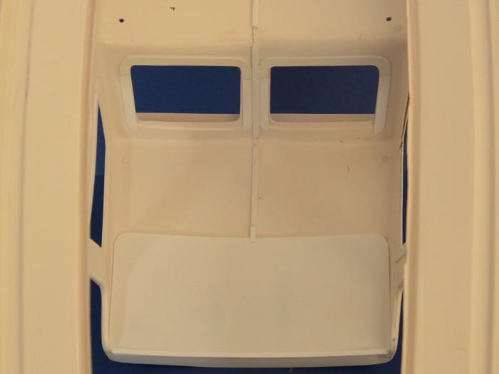 Graupner Marina Instandsetzung Abdeckung für Verkabelung und verwendete Widerstände für Beleuchtung