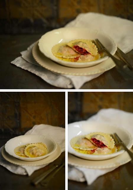 ravioli beetroot