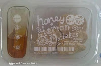 Graze box snacks - honey & lemon oatbakes
