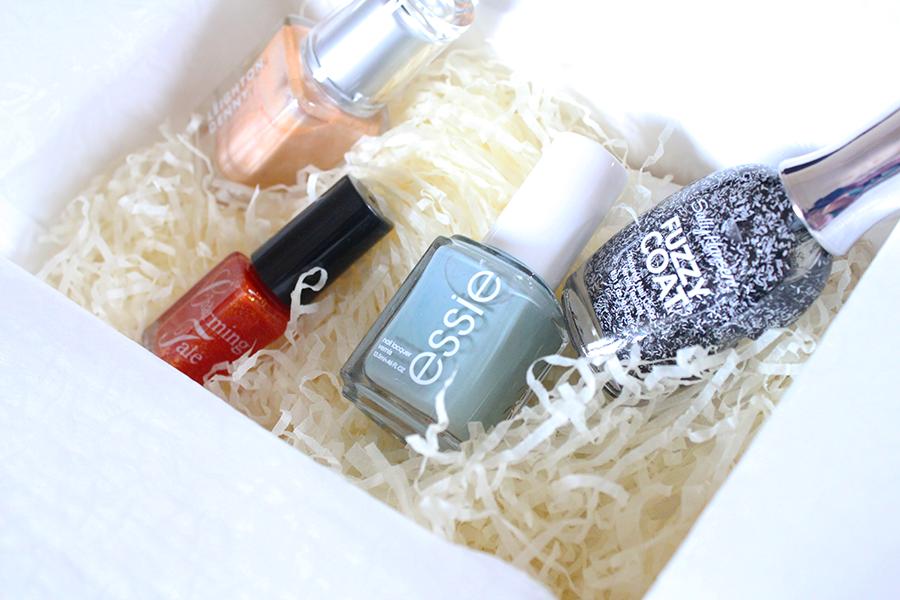 autumn manicure nail box