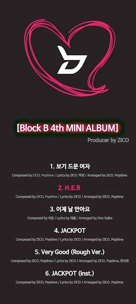 block b her tracklist