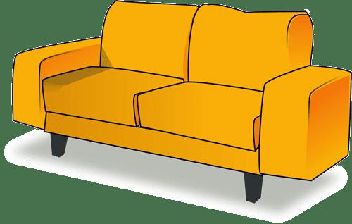 dibujo de sofa