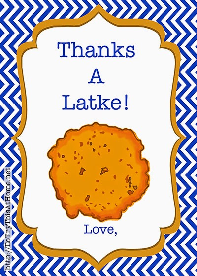 Click here to download Latke Chanukah label!