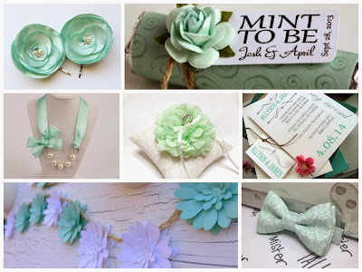 Mint Wedding Inspiration Board, curated by Sugarplum Garters