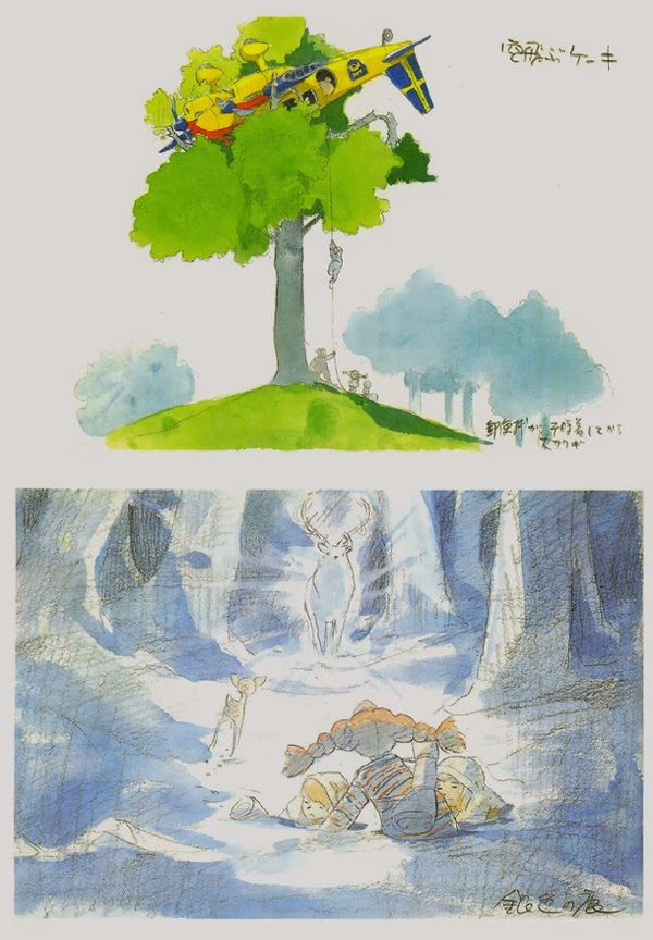 Pippi Calzaslargas bocetos Hayao Miyazaki